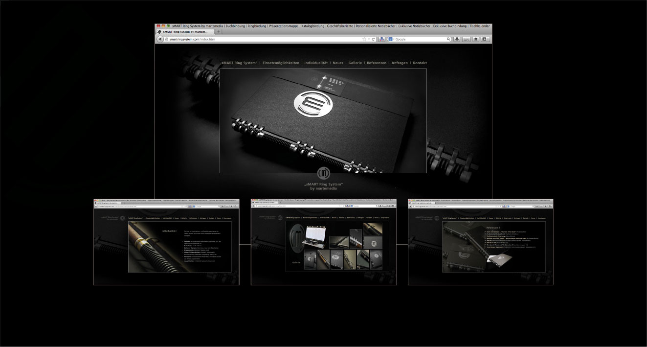 """""""sMART RING SYSTEM"""" BY MARTEMEDIA - Entwicklung Bindesystem, Corporate Design"""