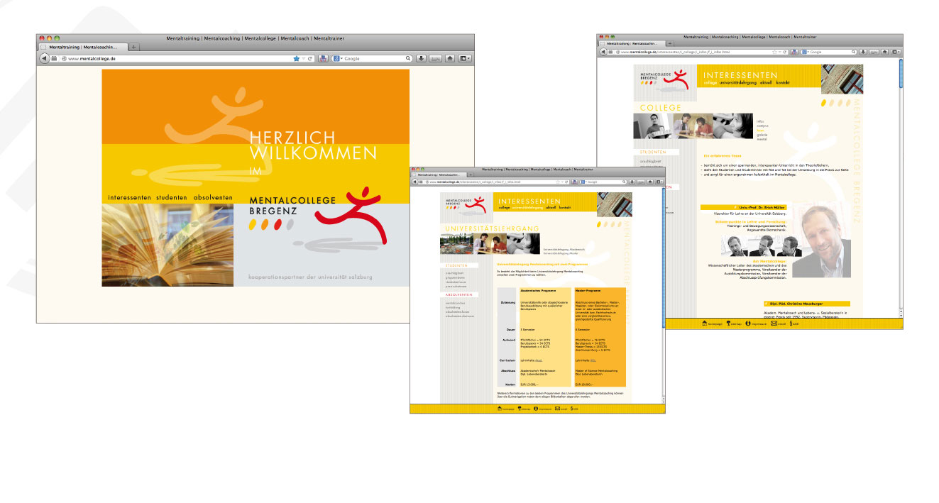 MENTALCOLLEGE BREGENZ - Website, Corporate Design