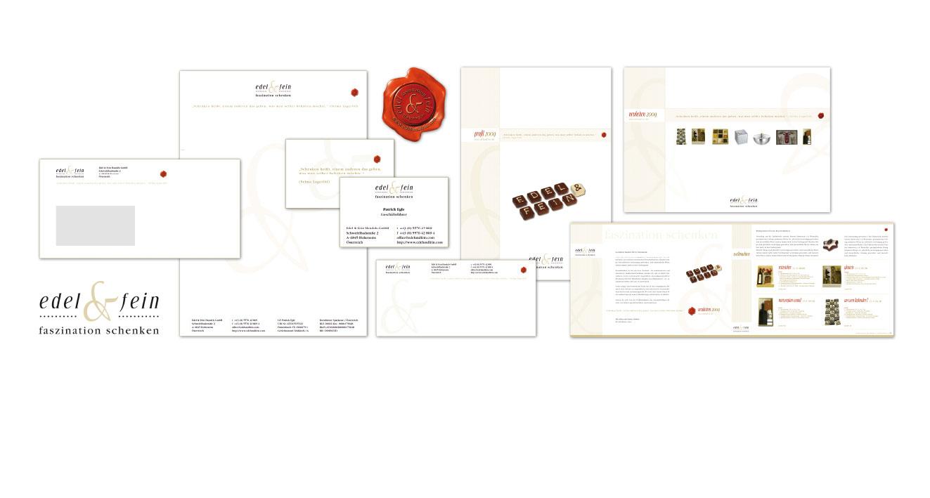 EDEL & FEIN | FASZINATION SCHENKEN - Corporate Design