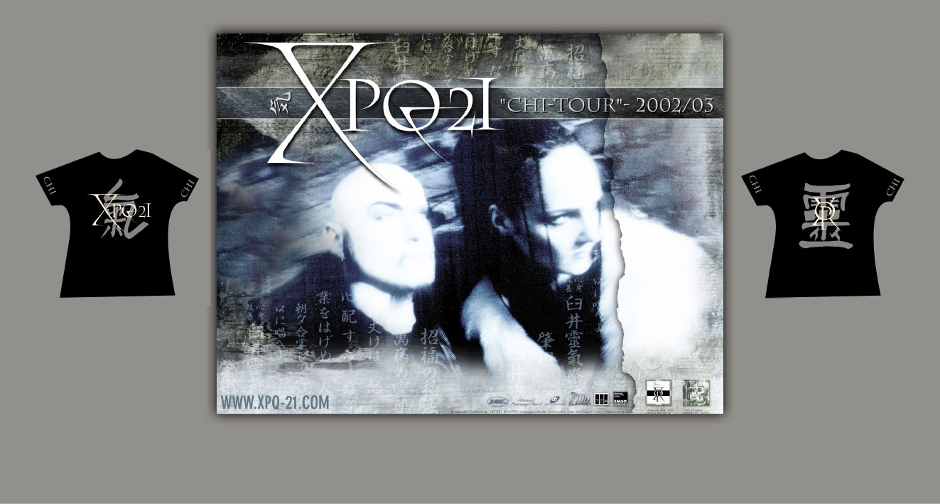 "XPQ-21 - ""Chi-Tour 2002/2003 Europa"", Tourposter, Shirts"