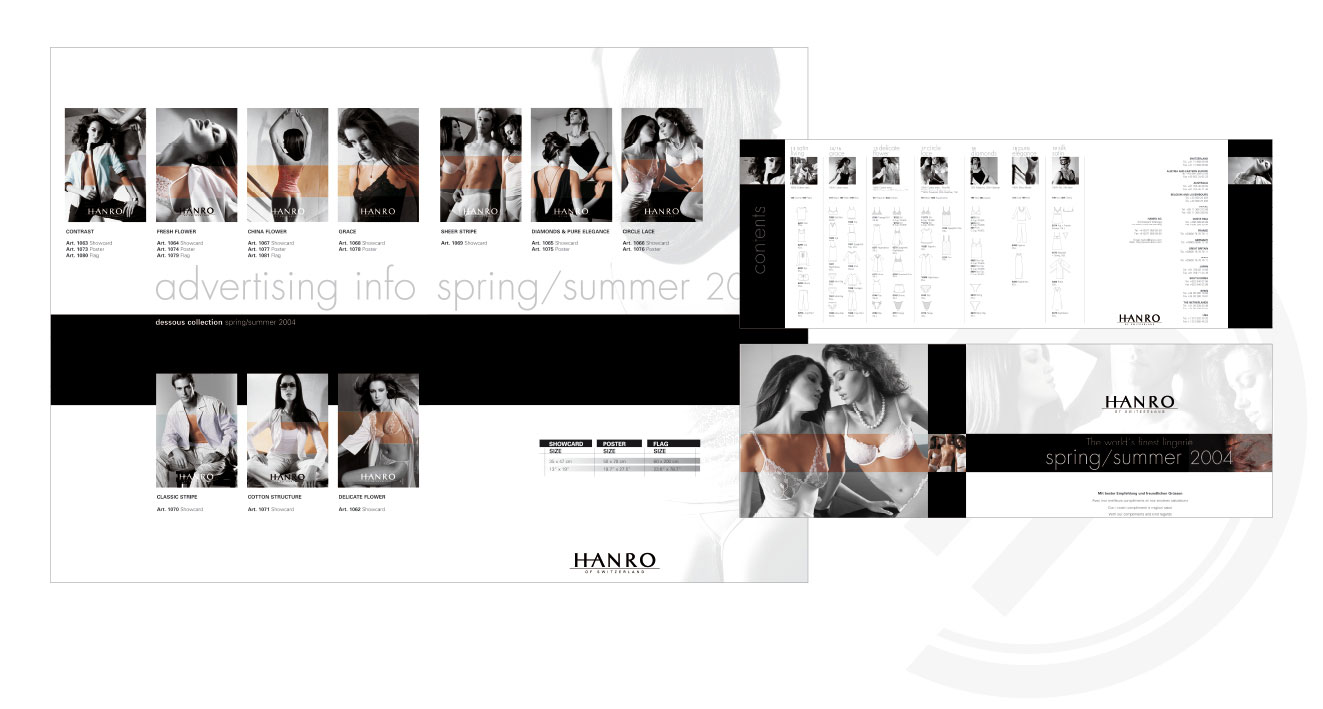 HANRO (CH) - Advertising Info Spring/Summer 2004 | Invitation