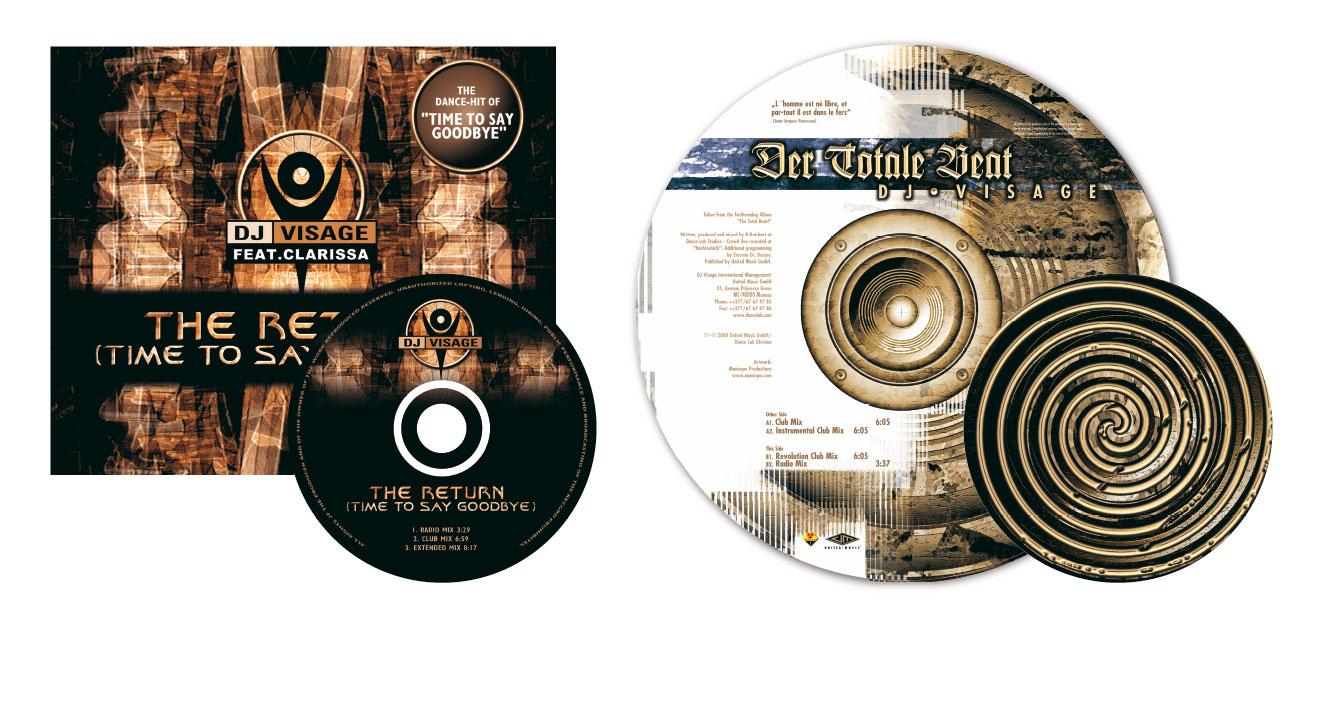 DJ VISAGE - CD / Vinyl-Picuture Disc (Dancelab/EMI)