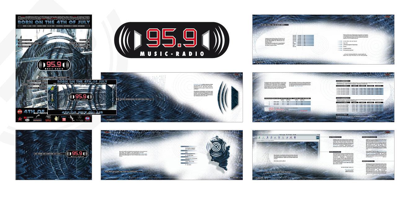 95.9 MUSIC RADIO - Corporate Design (1998)
