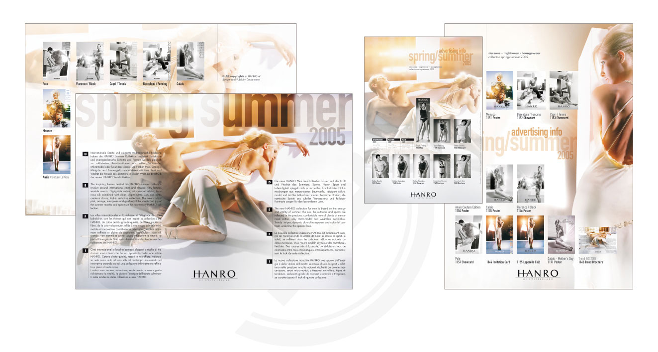 HANRO (CH) - Trend Collection Spring/Summer 2005   Advertising Info