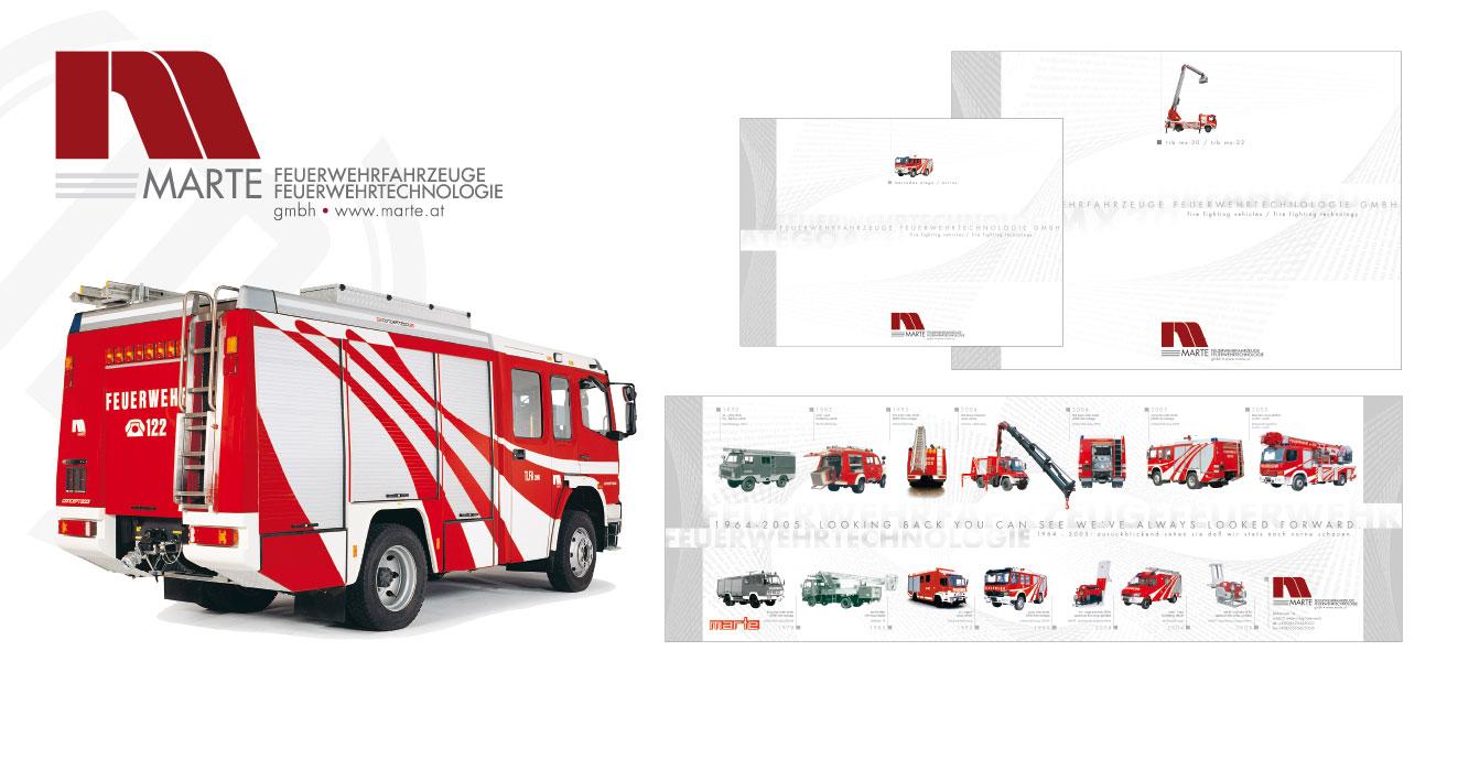 MARTE FEUERWEHRFAHRZEUGE | FEUERWEHRTECHNOLOGIE (A) - Corporate Design (1994 - 2007)