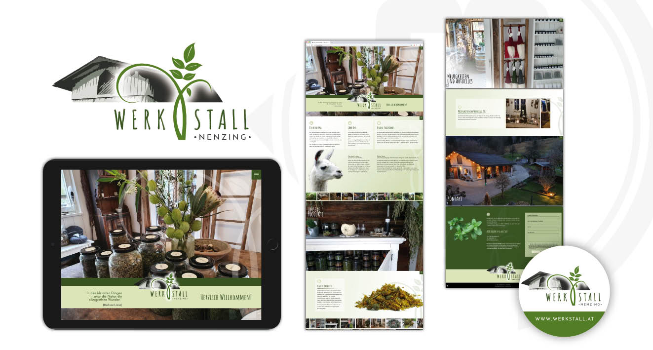 WERKSTALL NENZING - Webauftritt, Corporate Design