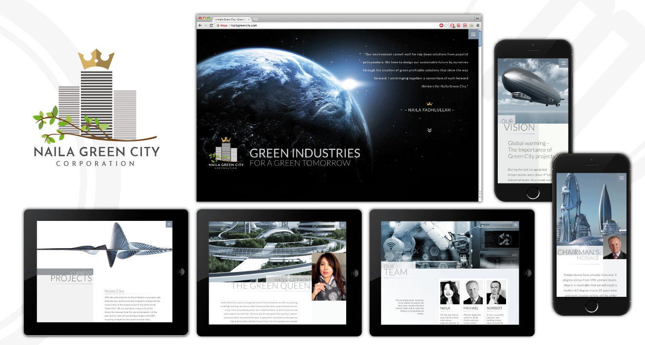 NAILA GREEN CITY CORPORATION - Web | Corporate Design